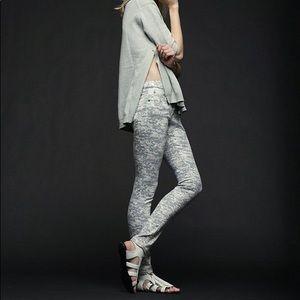 Rag & Bone Grey Camo Skinny Jeans size 26